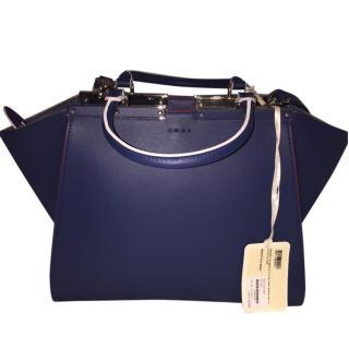 Fendi 3Jours Blue Leather Shopper Bag