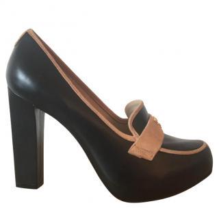 Kat Maconie Tabitha black leather tan suede 4.5
