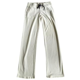 Juicy Couture White Velour Trousers