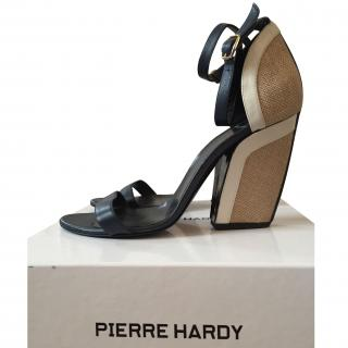 Pierre Hardy Navy Blue Leather Sandals