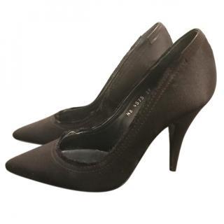Pedro Garcia Black Satin Heels