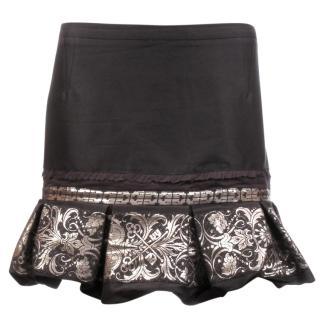 Antonio Berardi Metallic Jacquard Hem Skirt