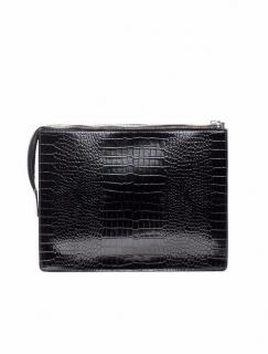 Acne Studios Crocodile Clutch Document Holder