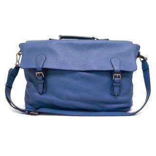 Burberry Men's Blue Leather Satchel