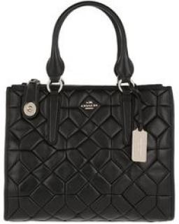 COACH Women's Canyon Quilted Tote Leather Black