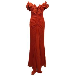 Bellville Sassoon Silk Red Gown