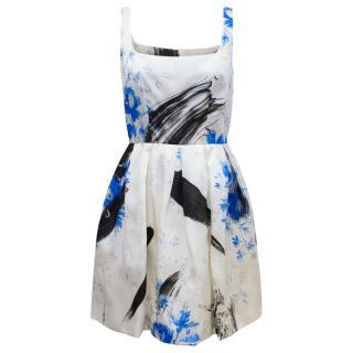 Christopher Kane Ivory Floral Patterned Dress