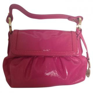 Fendi patent leather fuchsia mini bag