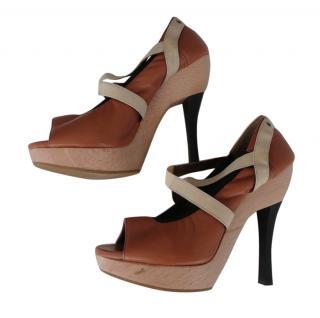 Marni Cross Strap Heels