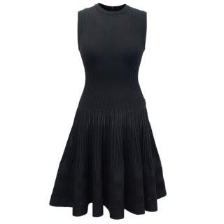 Alaia Black Knitted Mini Dress