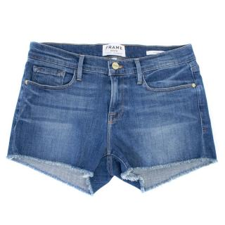 Frame Blue Denim 'Le Cutoff Shorts