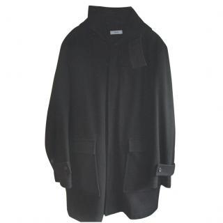 Farhi Black Hooded Coat Size Large