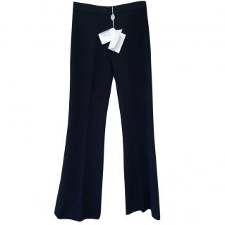 Emilio Pucci Black Flared Trousers Size 6 new with tags