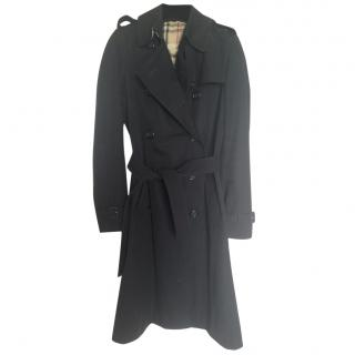 Burberry black cotton trench coat