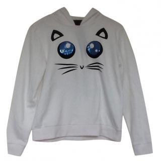 Karl Lagerfeld White Cat Hoodie