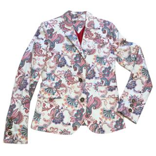 Tommy Hilfiger paisley blazer coat jacket