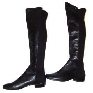 Vince Camuto black leather over the knee boots