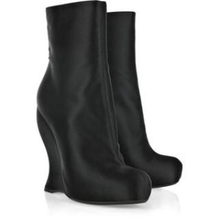 Bottega veneta satin wedge boots