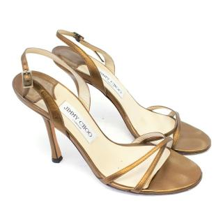 Jimmy Choo Copper Heeled Sandals