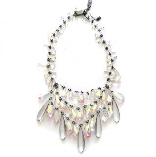 Prada statement opalescent bead necklace