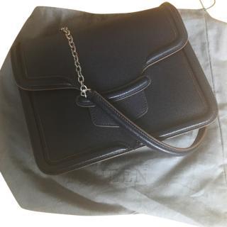 Alexander McQueen Heroine Blue Shoulder Bag