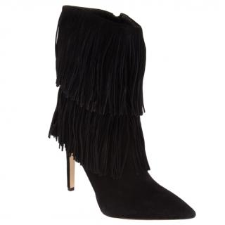 Sam Edelman Black Suede Heeled Boots
