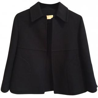 Michael Michael Kors short black jacket virgin wool/angora size S