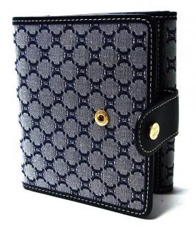 Celine Blue Jacquard/Leather Wallet
