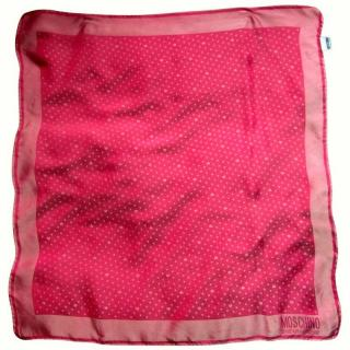 Moschino Cheap and Chic Pink Polka Dot Scarf