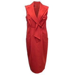Escada Red Pencil Dress