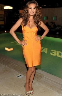 Herve Leger Pale Orange Bandage Dress