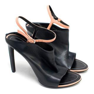 Balenciaga Spy Black Leather Sandals