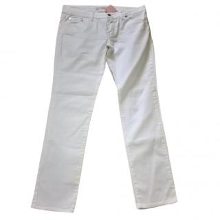 Valentino Red White canvas jeans
