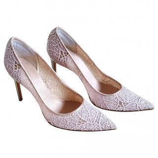 Giambattista Valli Pink Lace Court Shoes