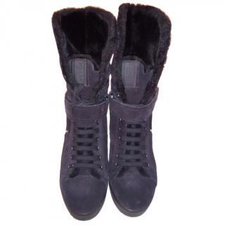 Prada Fur Lined Boots