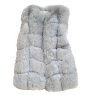 White/Grey Fox Fur Vest