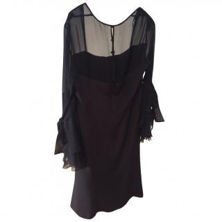 Escada black cocktail dress