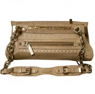 Versace chain leather bag