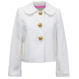 Milly White Textured Jacket