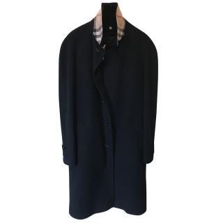 Burberry men's black trenchcoat
