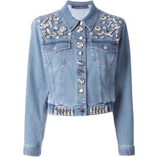 EMANUEL UNGARO Embellished Denim Jacket