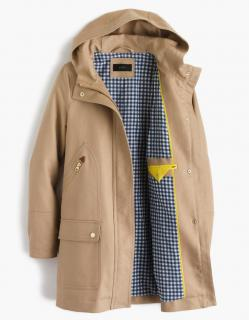 J.Crew chateau hooded trench coat