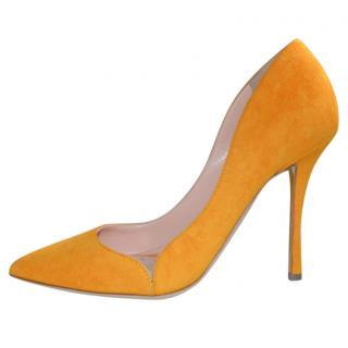Rupert Sanderson Orange Suede Pumps
