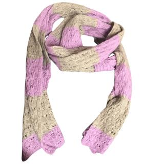 Zadig And Voltaire Striped Cashmere Scarf
