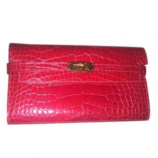 Hermes Kelly Crocodile Wallet