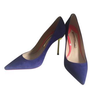Sophia Webster Blue Coco Flamingo shoes