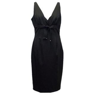 Gucci Sleeveless Black Pencil Dress with Gold Toned Details