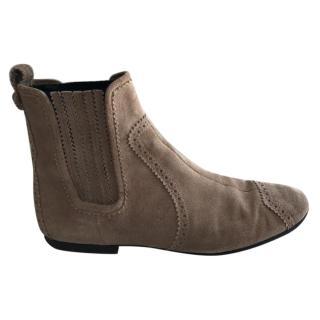 Balenciaga Suede Beige Boots