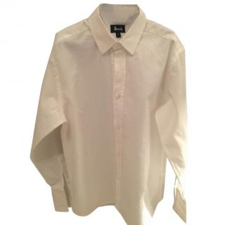 Harrods formal boys white double cuff shirt