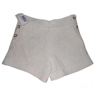 Paul & Joe Cream Cotton Shorts